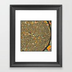 St. Louis Map Framed Art Print