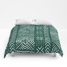 Line Mud Cloth // Brunswick Green Comforters