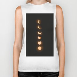 moon phases bright moon crescent moon astronomy night sky solar eclipse magic wicca lunar calendar Biker Tank
