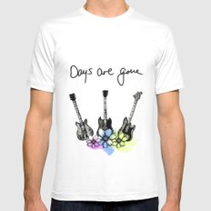 Days are gone X-LARGE White Mens Fitted Tee