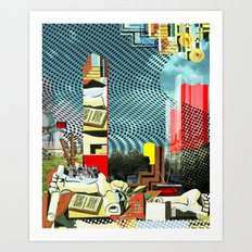 Floating friday Art Print