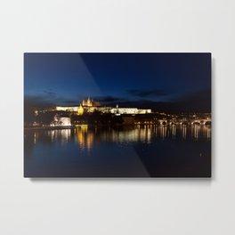 Prague Castle @night Metal Print