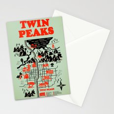 Twin Peaks Map Stationery Cards