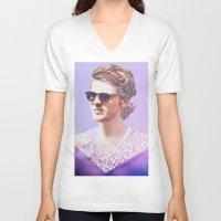 lyrics V-neck T-shirts featuring Lyrics  by Clara J Aira
