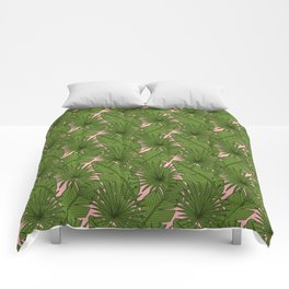 Tropical Leaves - Doodle Pattern Comforters