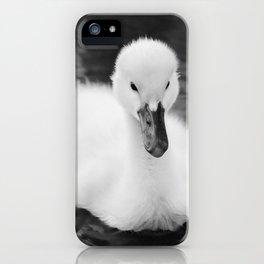 """Baby Swan - Black & White"" iPhone Case"