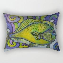 Green Fish Blue Fish Rectangular Pillow