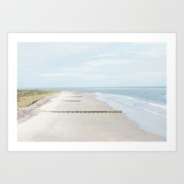 Folly Beach in Charleston, South Carolina Art Print