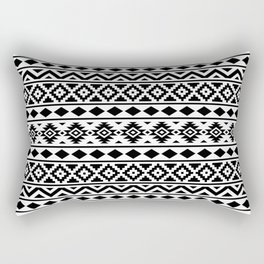 Aztec Essence Ptn III Black on White Rectangular Pillow