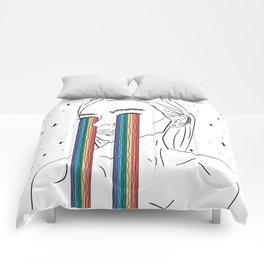 Rainbow tears Comforters