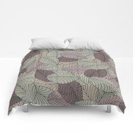 Vector Seamless Leaves Pattern II Comforters