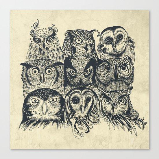 Nine Owls Canvas Print