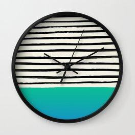 Mermaid & Stripes Wall Clock