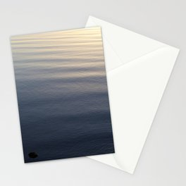 One Rock Waits for Waves in the Morning Light Stationery Cards
