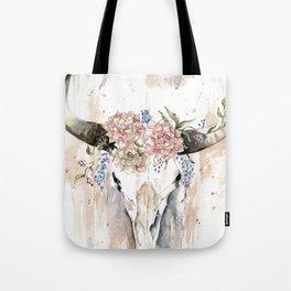 Rustic Boho Longhorn Tote Bag