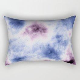 blue purple tie dye Rectangular Pillow