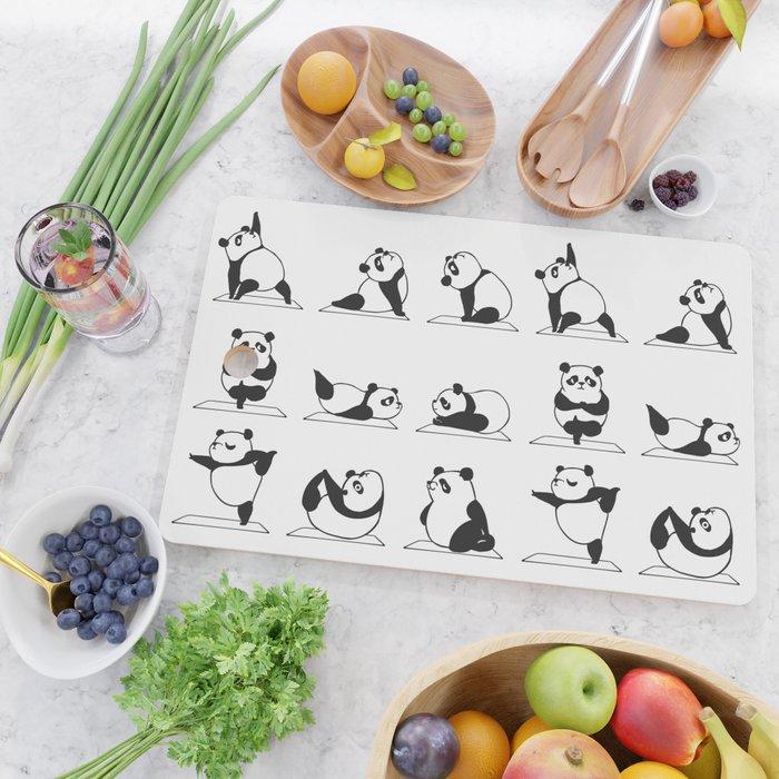 Panda Yoga Cutting Board