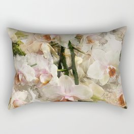 Painted Orchids Rectangular Pillow