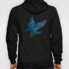 Artistic Eagle Soaring Wings Ornate Prismatic Art Hoody