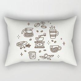 Coffee Doodles Rectangular Pillow