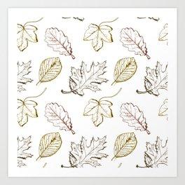 Leaves (browns) Art Print