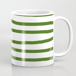 Simply Drawn Stripes in Jungle Green Coffee Mug