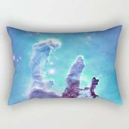Aqua Turquoise Lavender Galaxy Rectangular Pillow
