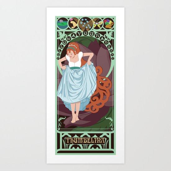 Thumbelina Nouveau - Thumbelina Art Print