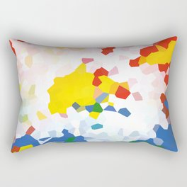 Abstract background red, blue and yellow colors Rectangular Pillow