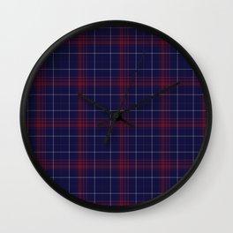Pretty Plaid Wall Clock
