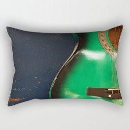 Green guitar Rectangular Pillow