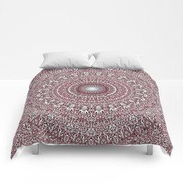 Light Pink Floral Mandala Comforters