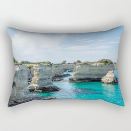 Seacoast of Adriatic Sea in Salento Italy Rectangular Pillow