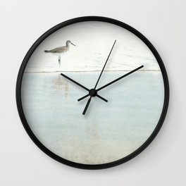 Reflecting Sandpiper Wall Clock