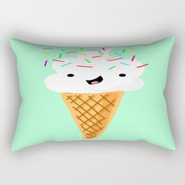 Happiness Is Sprinkles On Your Ice Cream Rectangular Pillow