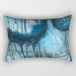 Bottom of the Deep Blue Rectangular Pillow