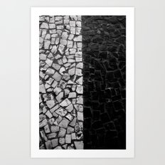 Black and White on the streets Art Print