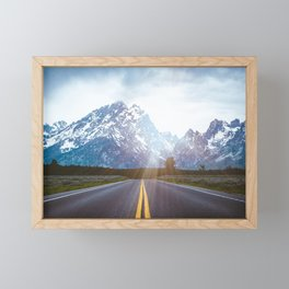 Mountain Road - Grand Tetons Nature Landscape Photography Framed Mini Art Print