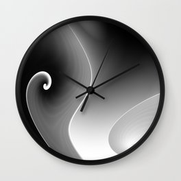 black and white -d- Wall Clock