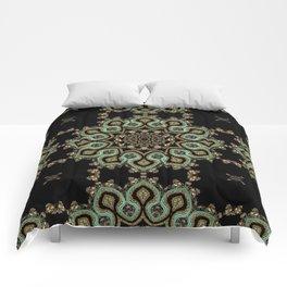 Art Deco No. 8 . The round ornament . Comforters
