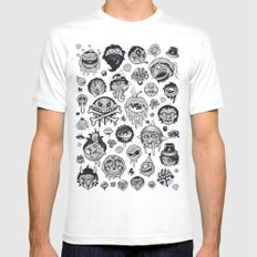 Characters Mens Fitted Tee MEDIUM White