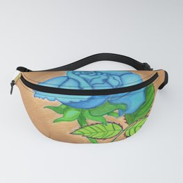 The royal blue rose Fanny Pack
