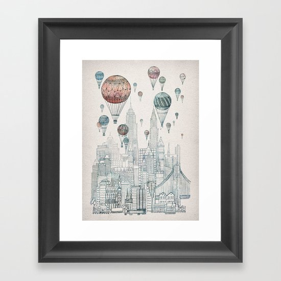 Voyages Over New York Framed Art Print