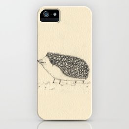 Monochrome Hedgehog iPhone Case