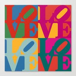 Love Pop Art Canvas Print