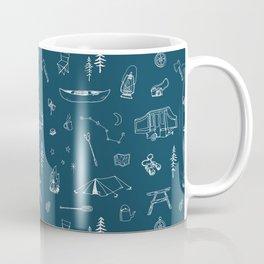 Simple Camping blue Coffee Mug