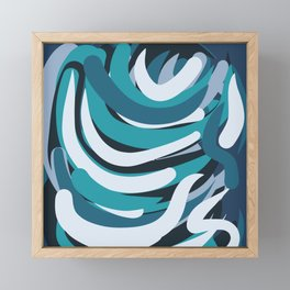Abstract Blue Pattern Waves of Love Framed Mini Art Print