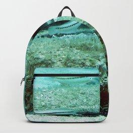 Watercolor Human Impact, Trash 09, Tire Backpack