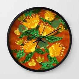 Harvest Peonies Wall Clock