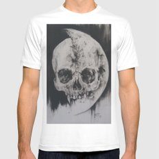 For Us And The Moon MEDIUM White Mens Fitted Tee